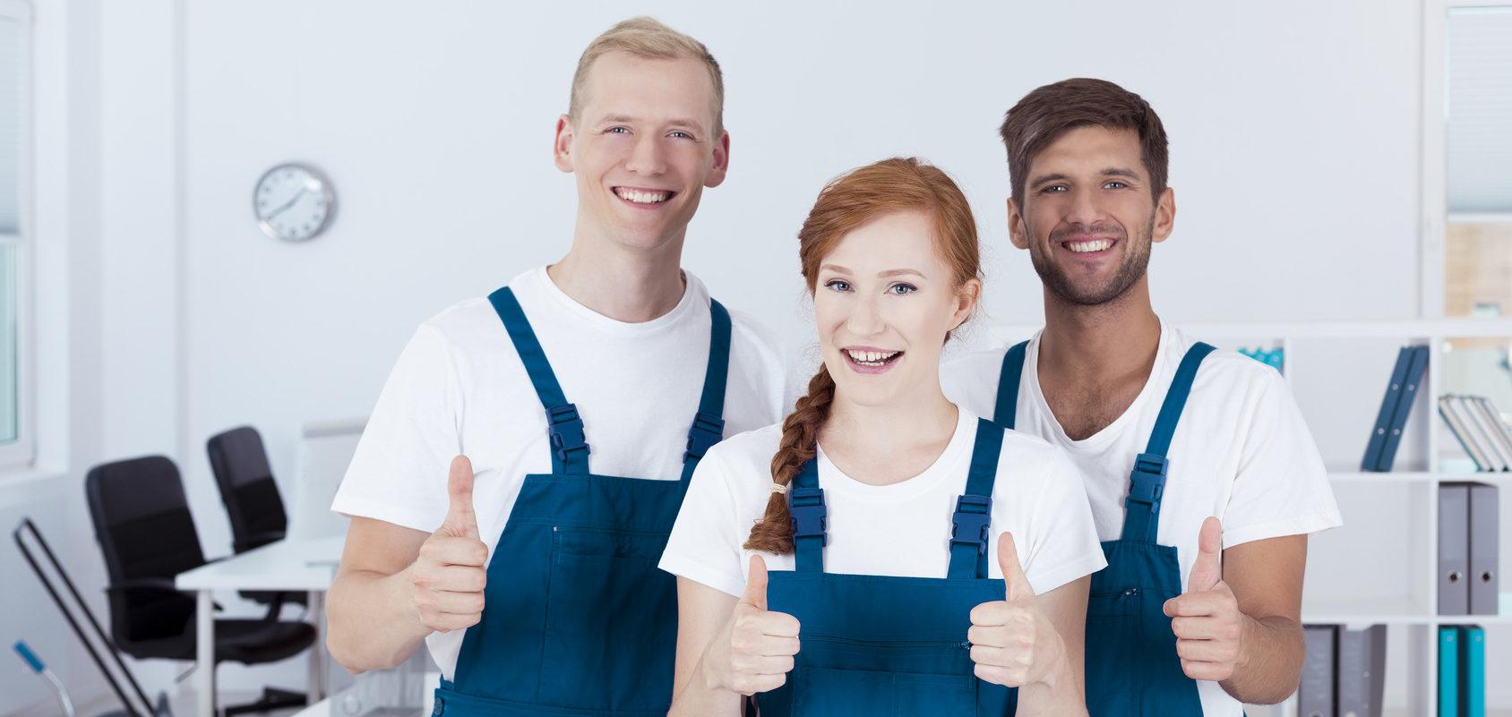 Ein glückliches Team der Ö&I Clean GmbH. Dank der Stellenangebote sind unsere Mitarbeiter allerbester Laune